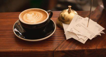 Coffee receipts